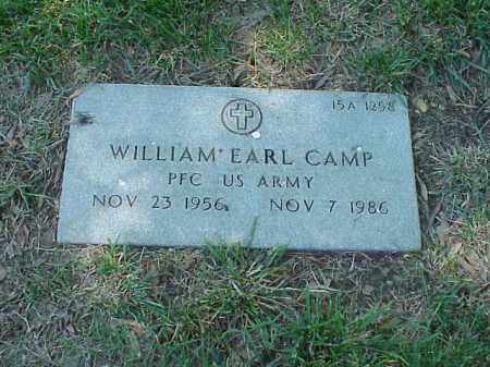 CAMP (VETERAN), WILLIAM EARL - Pulaski County, Arkansas | WILLIAM EARL CAMP (VETERAN) - Arkansas Gravestone Photos