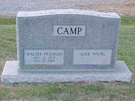 CAMP, WALTER FRANKLIN - Pulaski County, Arkansas | WALTER FRANKLIN CAMP - Arkansas Gravestone Photos