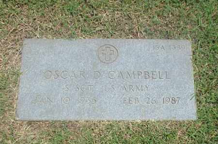 CAMPBELL  (VETERAN), OSCAR D - Pulaski County, Arkansas | OSCAR D CAMPBELL  (VETERAN) - Arkansas Gravestone Photos