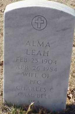 CAMPBELL, ALMA LEAH - Pulaski County, Arkansas | ALMA LEAH CAMPBELL - Arkansas Gravestone Photos