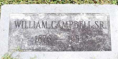 CAMPBELL, SR, WILLIAM - Pulaski County, Arkansas | WILLIAM CAMPBELL, SR - Arkansas Gravestone Photos