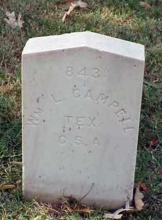 CAMPBELL (VETERAN CSA), WILLIAM L - Pulaski County, Arkansas | WILLIAM L CAMPBELL (VETERAN CSA) - Arkansas Gravestone Photos
