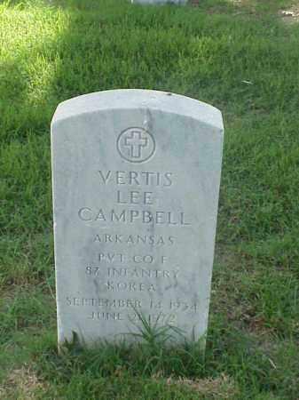 CAMPBELL (VETERAN KOR), VERTIS LEE - Pulaski County, Arkansas | VERTIS LEE CAMPBELL (VETERAN KOR) - Arkansas Gravestone Photos