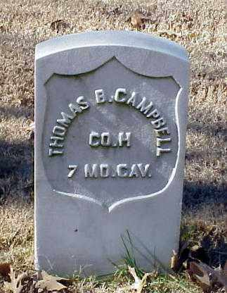 CAMPBELL (VETERAN UNION), THOMAS B - Pulaski County, Arkansas | THOMAS B CAMPBELL (VETERAN UNION) - Arkansas Gravestone Photos
