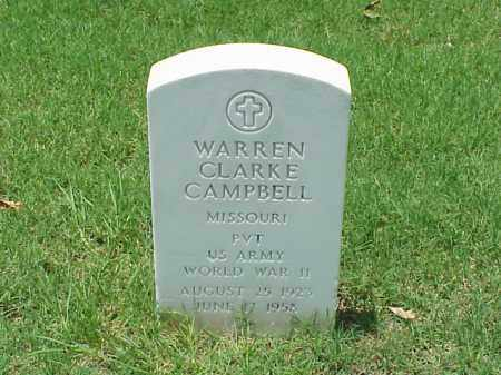 CAMPBELL (VETERAN WWII), WARREN CLARKE - Pulaski County, Arkansas | WARREN CLARKE CAMPBELL (VETERAN WWII) - Arkansas Gravestone Photos