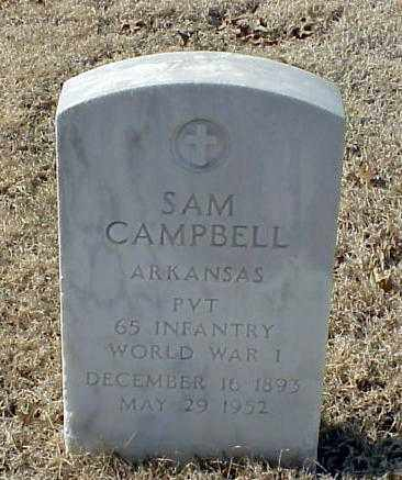 CAMPBELL (VETERAN WWI), SAM - Pulaski County, Arkansas | SAM CAMPBELL (VETERAN WWI) - Arkansas Gravestone Photos