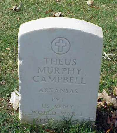 CAMPBELL (VETERAN WWI), THEUS MURPHY - Pulaski County, Arkansas | THEUS MURPHY CAMPBELL (VETERAN WWI) - Arkansas Gravestone Photos
