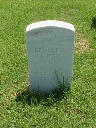 CAMPBELL (VETERAN WWII), ERNEST A - Pulaski County, Arkansas | ERNEST A CAMPBELL (VETERAN WWII) - Arkansas Gravestone Photos