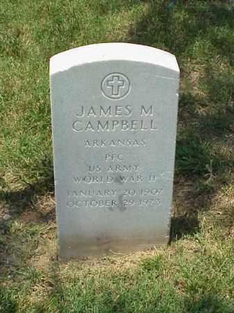CAMPBELL (VETERAN WWII), JAMES M - Pulaski County, Arkansas | JAMES M CAMPBELL (VETERAN WWII) - Arkansas Gravestone Photos