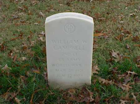 CAMPBELL (VETERAN WWII), WILLIAM W - Pulaski County, Arkansas | WILLIAM W CAMPBELL (VETERAN WWII) - Arkansas Gravestone Photos