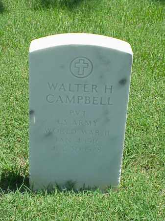 CAMPBELL (VETERAN WWII), WALTER H - Pulaski County, Arkansas | WALTER H CAMPBELL (VETERAN WWII) - Arkansas Gravestone Photos