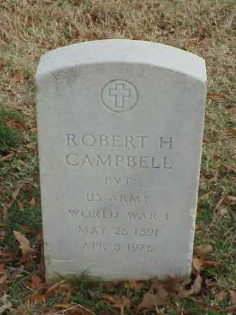 CAMPBELL (VETERAN WWI), ROBERT H - Pulaski County, Arkansas | ROBERT H CAMPBELL (VETERAN WWI) - Arkansas Gravestone Photos