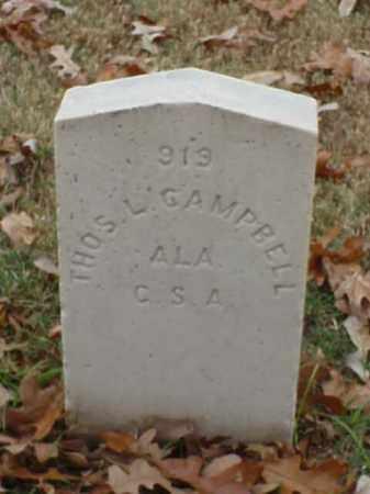 CAMPBELL (VETERAN CSA), THOMAS L - Pulaski County, Arkansas | THOMAS L CAMPBELL (VETERAN CSA) - Arkansas Gravestone Photos