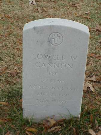 CANNON (VETERAN 2 WARS), LOWELL W - Pulaski County, Arkansas | LOWELL W CANNON (VETERAN 2 WARS) - Arkansas Gravestone Photos