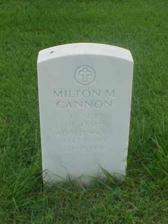 CANNON (VETERAN WWI), MILTON M - Pulaski County, Arkansas | MILTON M CANNON (VETERAN WWI) - Arkansas Gravestone Photos
