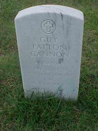 CANNON (VETERAN WWII), GUY PATTON - Pulaski County, Arkansas | GUY PATTON CANNON (VETERAN WWII) - Arkansas Gravestone Photos