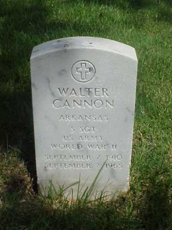 CANNON (VETERAN WWII), WALTER - Pulaski County, Arkansas | WALTER CANNON (VETERAN WWII) - Arkansas Gravestone Photos