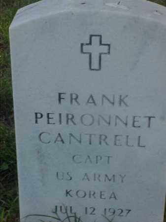 CANTRELL (VETERAN KOR), FRANK PEIRONNET - Pulaski County, Arkansas | FRANK PEIRONNET CANTRELL (VETERAN KOR) - Arkansas Gravestone Photos