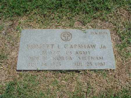 CAPSHAW, JR (VETERAN 3 WARS), EMMETT L - Pulaski County, Arkansas | EMMETT L CAPSHAW, JR (VETERAN 3 WARS) - Arkansas Gravestone Photos