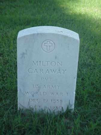 CARAWAY (VETERAN WWI), MILTON - Pulaski County, Arkansas | MILTON CARAWAY (VETERAN WWI) - Arkansas Gravestone Photos
