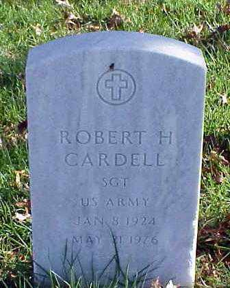CARDELL (VETERAN), ROBERT H - Pulaski County, Arkansas | ROBERT H CARDELL (VETERAN) - Arkansas Gravestone Photos