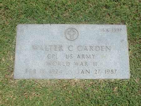 CARDEN (VETERAN WWII), WALTER C - Pulaski County, Arkansas | WALTER C CARDEN (VETERAN WWII) - Arkansas Gravestone Photos