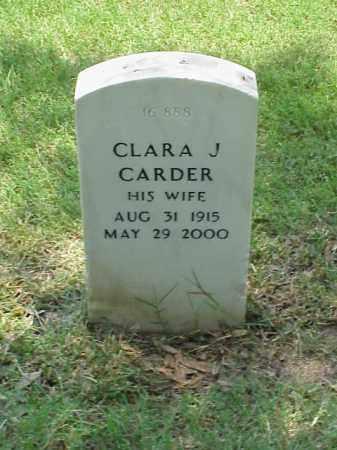 CARDER, CLARA J - Pulaski County, Arkansas | CLARA J CARDER - Arkansas Gravestone Photos