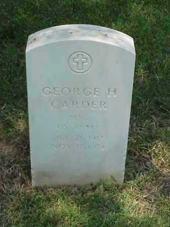 CARDER (VETERAN 2 WARS), GEORGE H - Pulaski County, Arkansas | GEORGE H CARDER (VETERAN 2 WARS) - Arkansas Gravestone Photos