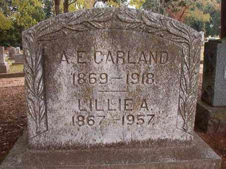 CARLAND, A E - Pulaski County, Arkansas | A E CARLAND - Arkansas Gravestone Photos
