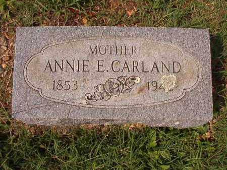 CARLAND, ANNIE E - Pulaski County, Arkansas | ANNIE E CARLAND - Arkansas Gravestone Photos