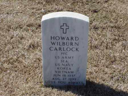 CARLOCK (VETERAN 2 WARS), HOWARD WILBURN - Pulaski County, Arkansas | HOWARD WILBURN CARLOCK (VETERAN 2 WARS) - Arkansas Gravestone Photos