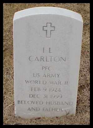 CARLTON (VETERAN WWII), I L - Pulaski County, Arkansas | I L CARLTON (VETERAN WWII) - Arkansas Gravestone Photos