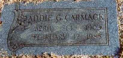 CARMACK, ADDIE G. - Pulaski County, Arkansas | ADDIE G. CARMACK - Arkansas Gravestone Photos