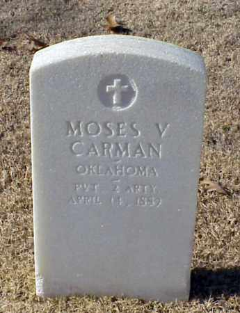 CARMAN (VETERAN UNION), MOSES V - Pulaski County, Arkansas | MOSES V CARMAN (VETERAN UNION) - Arkansas Gravestone Photos