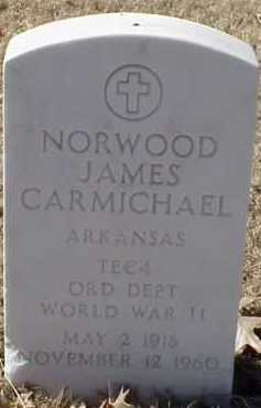 CARMICHAEL  (VETERAN WWII), NORWOOD JAMES - Pulaski County, Arkansas | NORWOOD JAMES CARMICHAEL  (VETERAN WWII) - Arkansas Gravestone Photos
