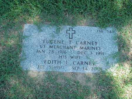 CARNEY (VETERAN WWII), EUGENE T - Pulaski County, Arkansas | EUGENE T CARNEY (VETERAN WWII) - Arkansas Gravestone Photos