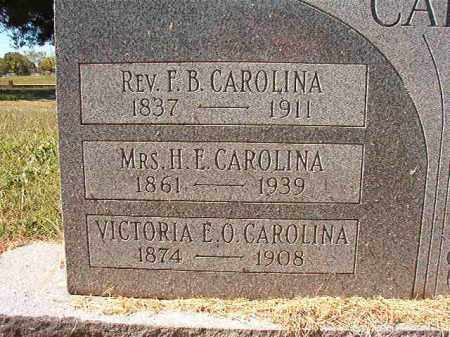CAROLINA, REV, F B - Pulaski County, Arkansas | F B CAROLINA, REV - Arkansas Gravestone Photos