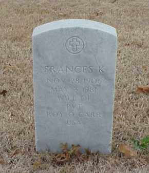 CARR, FRANCES K. - Pulaski County, Arkansas | FRANCES K. CARR - Arkansas Gravestone Photos