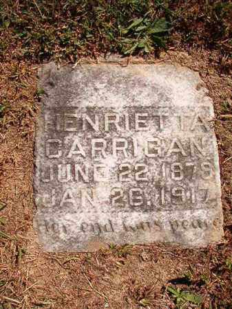 CARRIGAN, HENRIETTA - Pulaski County, Arkansas | HENRIETTA CARRIGAN - Arkansas Gravestone Photos