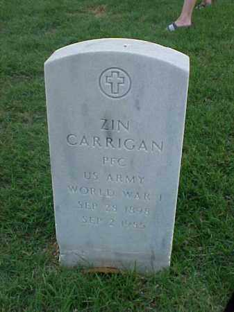CARRIGAN (VETERAN WWI), ZIN - Pulaski County, Arkansas | ZIN CARRIGAN (VETERAN WWI) - Arkansas Gravestone Photos