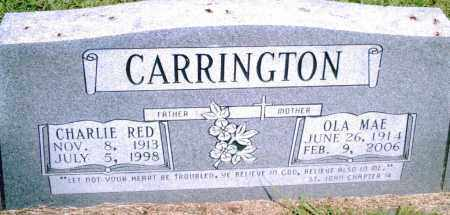 "CARRINGTON, CHARLIE ""RED"" - Pulaski County, Arkansas 