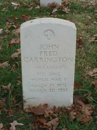 CARRINGTON (VETERAN WWI), JOHN FRED - Pulaski County, Arkansas | JOHN FRED CARRINGTON (VETERAN WWI) - Arkansas Gravestone Photos