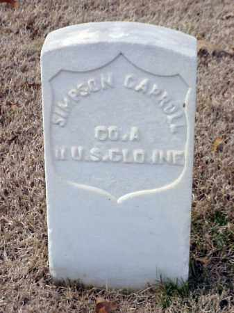 CARROLL (VETERAN UNION), SIMPSON - Pulaski County, Arkansas | SIMPSON CARROLL (VETERAN UNION) - Arkansas Gravestone Photos