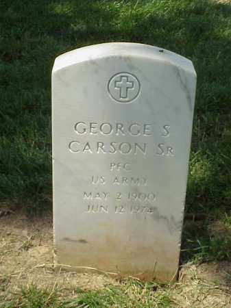 CARSON, SR (VETERAN), GEORGE S - Pulaski County, Arkansas | GEORGE S CARSON, SR (VETERAN) - Arkansas Gravestone Photos