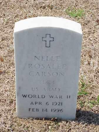CARSON (VETERAN WWII), NELLE ROSALEE - Pulaski County, Arkansas | NELLE ROSALEE CARSON (VETERAN WWII) - Arkansas Gravestone Photos