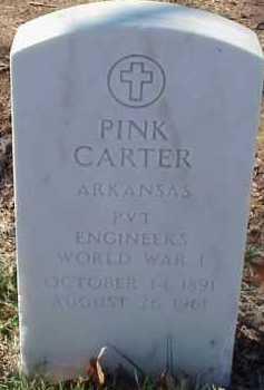 CARTER  (VETERAN WWI), PINK - Pulaski County, Arkansas | PINK CARTER  (VETERAN WWI) - Arkansas Gravestone Photos