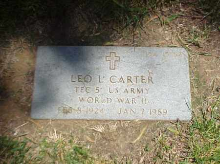 CARTER (VETERAN WWII), LEO L - Pulaski County, Arkansas | LEO L CARTER (VETERAN WWII) - Arkansas Gravestone Photos
