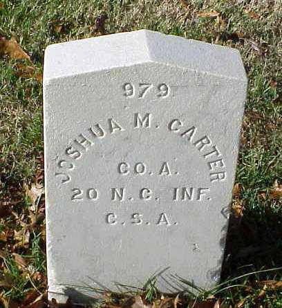 CARTER (VETERAN CSA), JOSHUA M - Pulaski County, Arkansas | JOSHUA M CARTER (VETERAN CSA) - Arkansas Gravestone Photos