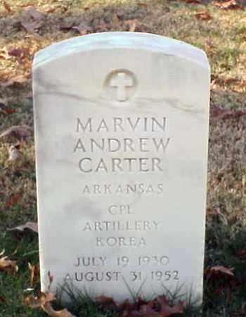 CARTER (VETERAN KOR), MARVIN ANDREW - Pulaski County, Arkansas | MARVIN ANDREW CARTER (VETERAN KOR) - Arkansas Gravestone Photos