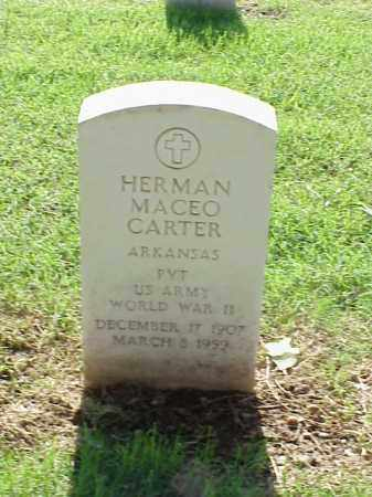 CARTER (VETERAN WWII), HERMAN MACEO - Pulaski County, Arkansas | HERMAN MACEO CARTER (VETERAN WWII) - Arkansas Gravestone Photos